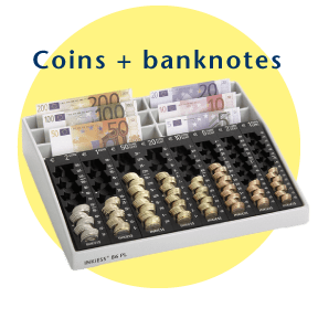 INKiESS supports counting of coins + banknotes